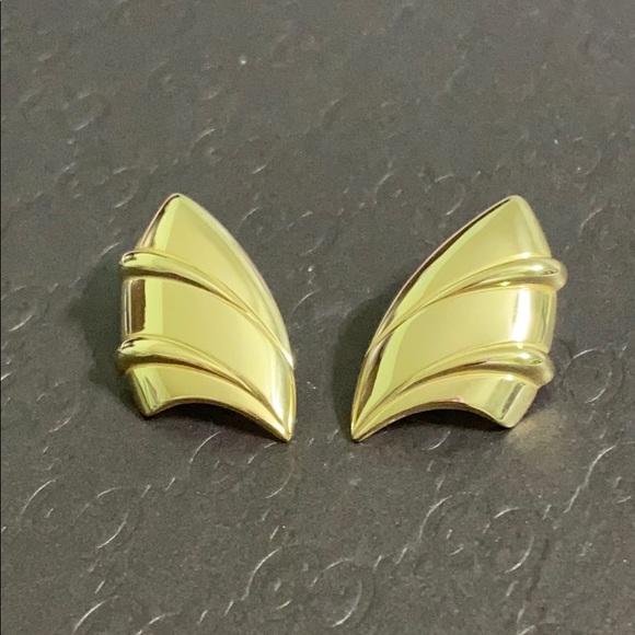 🖤MONET shiny gold earrings
